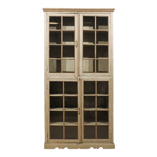 Mid-20th Century Painted Glass Door Cabinet For Sale