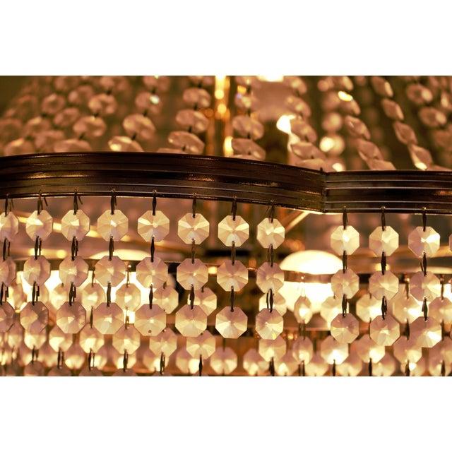 Transparent Vintage Swarovski Crystal Chandelier For Sale - Image 8 of 12