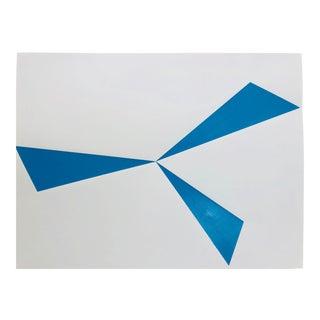 "Original Acrylic Painting ""Blue Pinwheel"" For Sale"