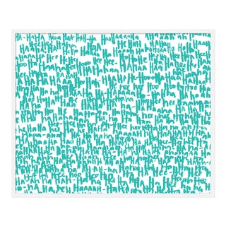 "Large ""haha Turquoise One"" Print by Kate Roebuck, 41"" X 31"""