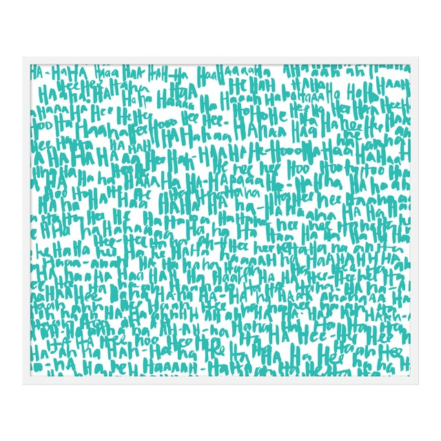 """Large """"haha Turquoise One"""" Print by Kate Roebuck, 41"""" X 31"""" For Sale"""