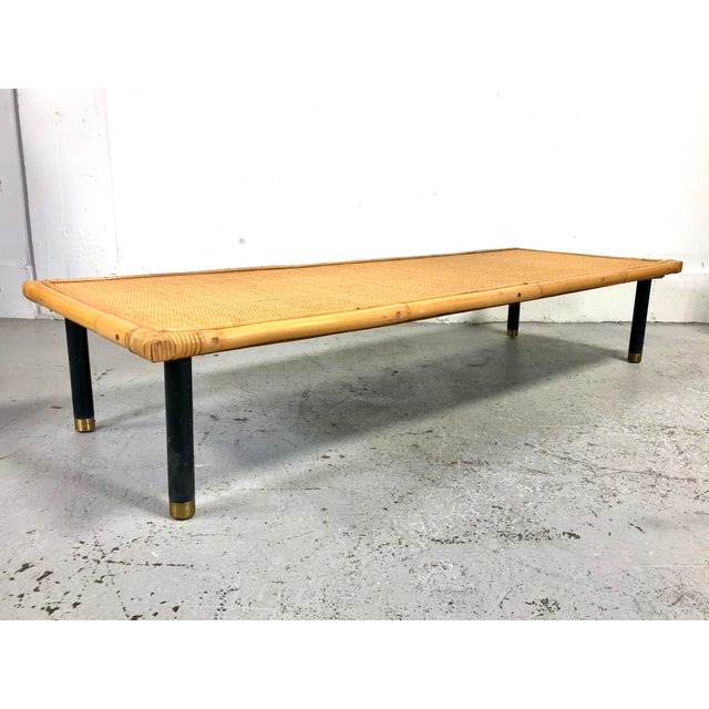 Mid 20th Century Mid Century Modern Ficks Reed Bamboo / Rattan Benches For Sale - Image 5 of 13