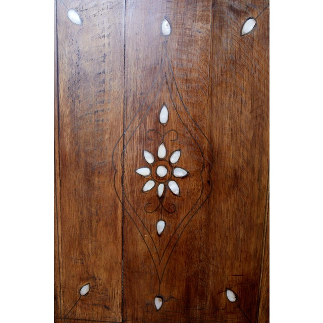 Moorish Pearl Inlay Carved Wedding Chest of Drawers For Sale - Image 9 of 13