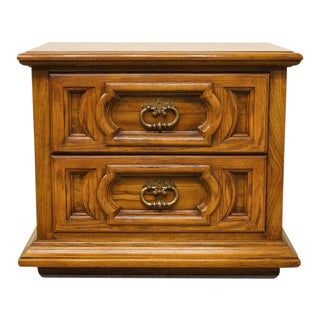Vintage Thomasville Furniture Levitz Collection Spanish Revival Nightstand For Sale