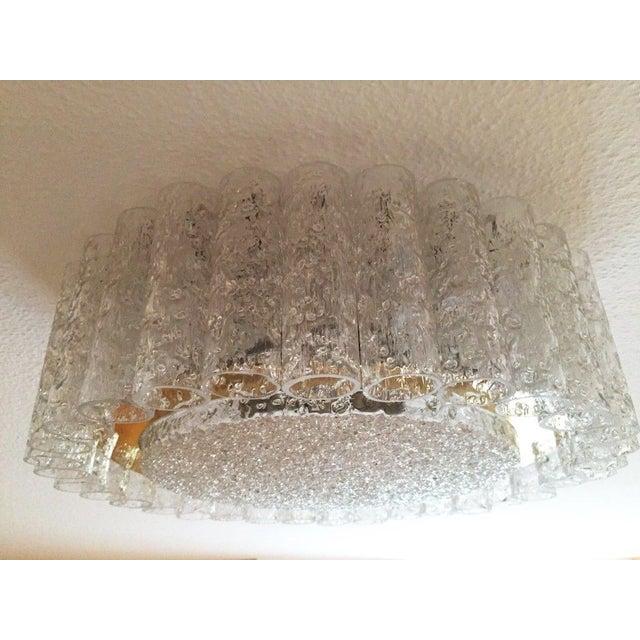 Mid-Century Glass Tube Chandelier by Doria Lichtenwerken For Sale - Image 6 of 11