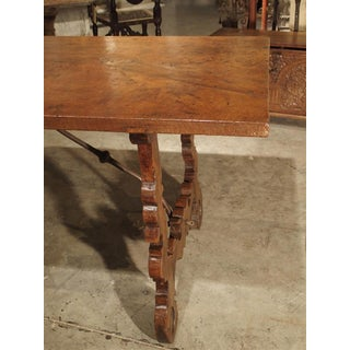 18th Century Spanish Single Plank Oak and Walnut Wood Refectory Table Preview