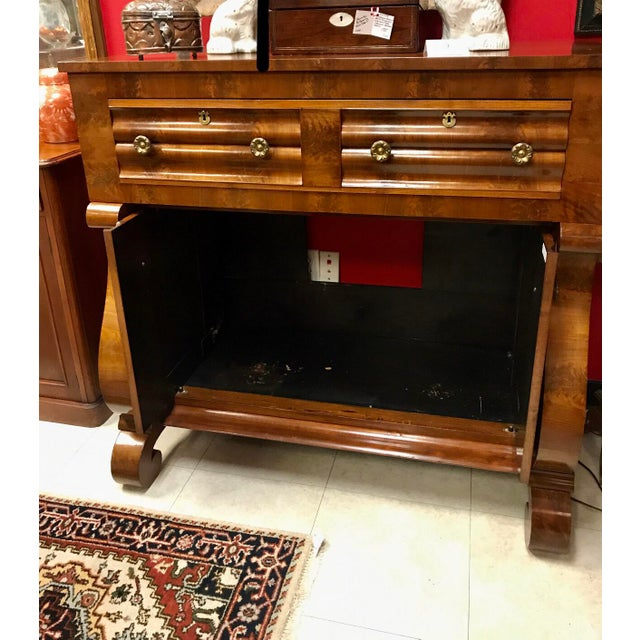 American 19th Century American Empire Mahogany Butlers Desk For Sale - Image 3 of 4