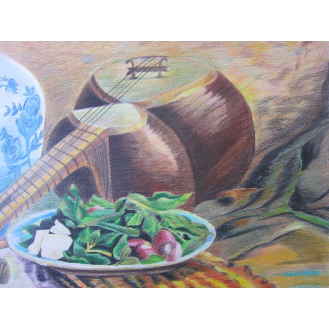 Eastern Culture Realism Colored Pencil Painting - Image 5 of 11