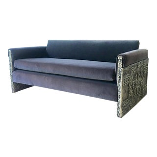Adrian Pearsall Designed Brutalist Two Seater Sofa 1960s For Sale