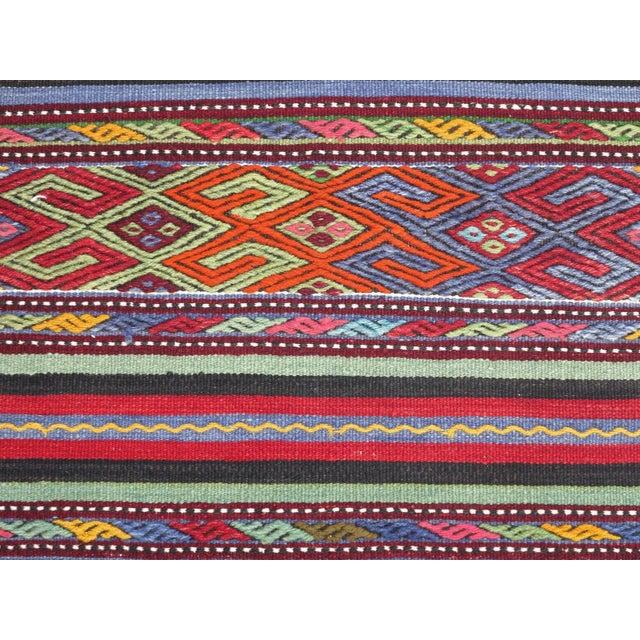 "Late 20th Century Vintage Turkish Kilim Rug-2'2'x4'2"" For Sale - Image 5 of 13"