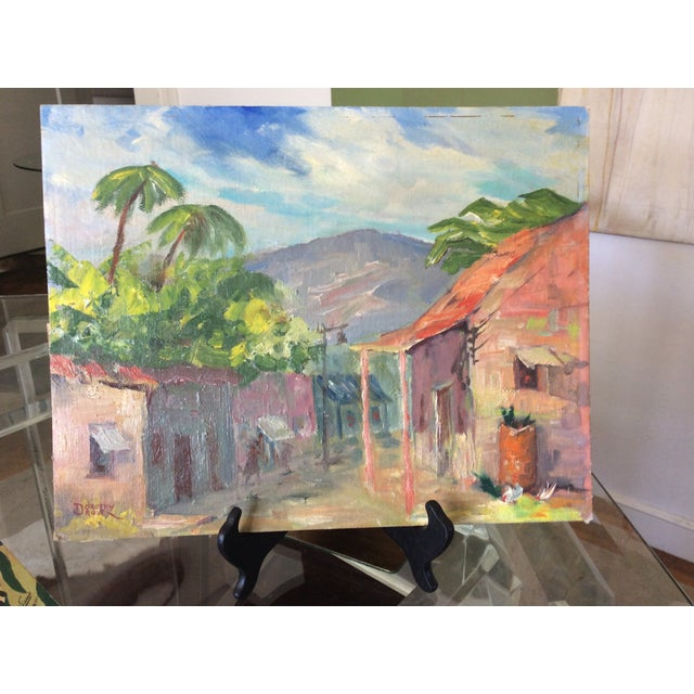 Original Signed 1920s Mexican Village Landscape - Image 2 of 10