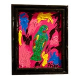 Image of Ebony Boyd Abstract Bird Framed Painting For Sale