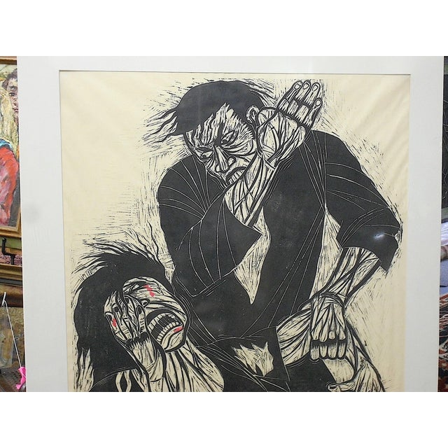 """ Hegemony Hidden Fury"" Urban Art-Monumental Limited Edition Woodblock Print-Artist's Proof By Thom Shaw-Pencil..."