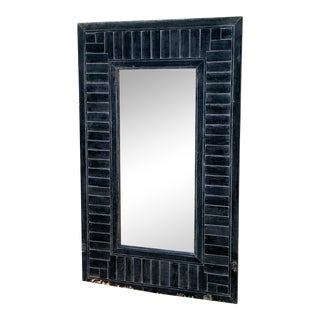 Antique Shutter Framed Mirror For Sale