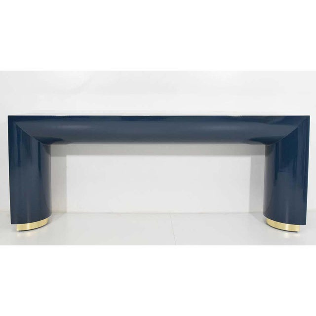 1970s Jay Spectre or Karl Springer Style Console For Sale - Image 5 of 9