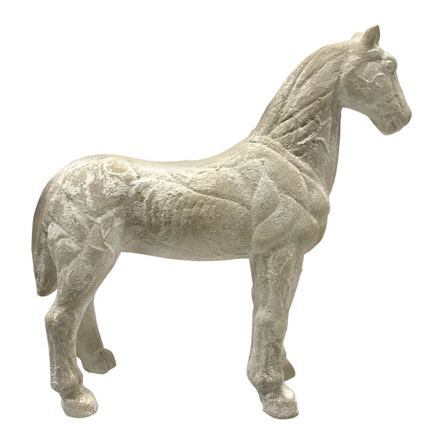 Mid-20th Century Vintage Plaster Model of Horse For Sale