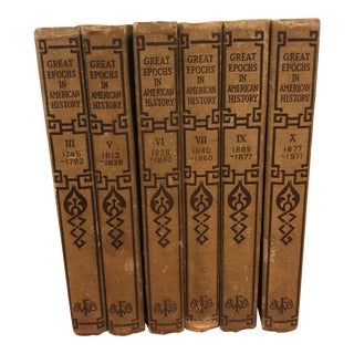Great Epochs in American History Books - Set of 6 For Sale