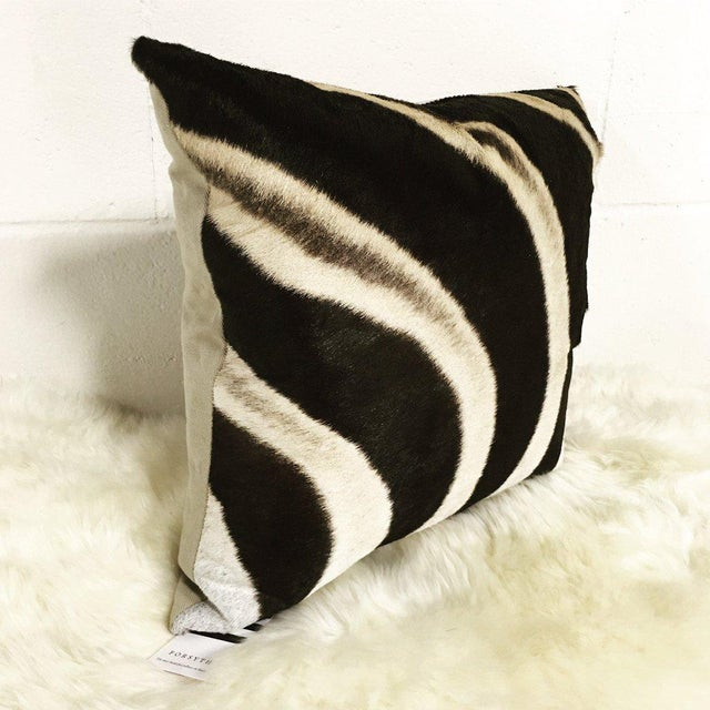 Contemporary Zebra Hide Pillow For Sale - Image 3 of 3