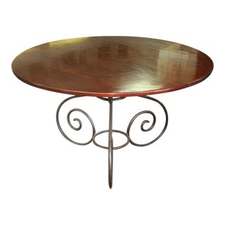 20th Century Art Nouveau Mahogany and Iron Table For Sale