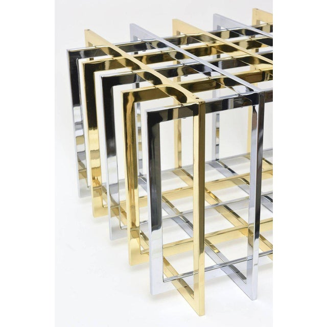Pierre Cardin Sculptural Grid or Puzzle Side Table - Image 4 of 10