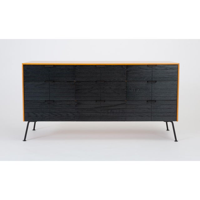 """Mengel Furniture Co. Raymond Loewy's """"Accent"""" Line Nine-Drawer Dresser for the Mengel Company For Sale - Image 4 of 13"""