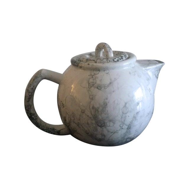 Marblelized Enamel Teapot - Image 1 of 4