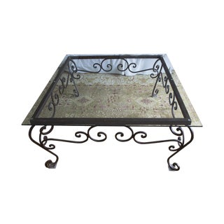 Brimfield Iron and Glass Coffee Table