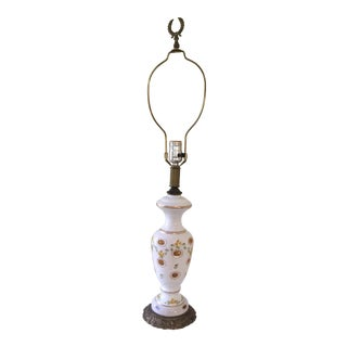 Bohemian Glass Art Table Lamp For Sale