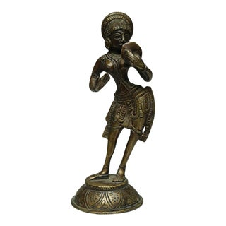 Vintage Bronze Indian Diety C. 1960-1970s