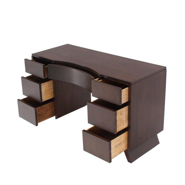 Wood Mid-Century Modern Petit Writing Table Desk For Sale - Image 7 of 8