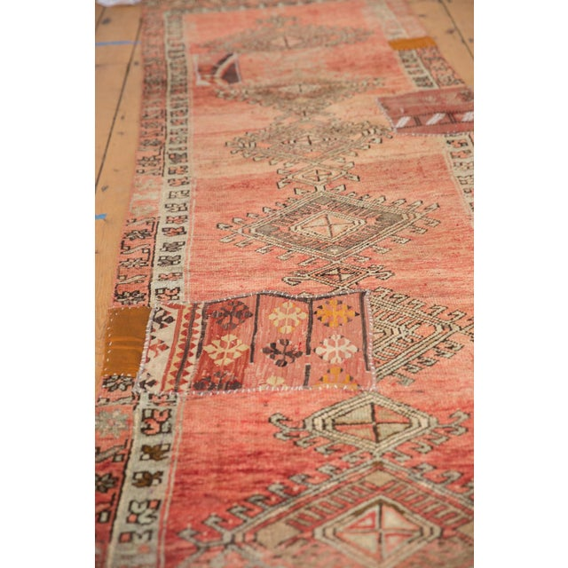 "Boho Chic Vintage Distressed Patchwork Oushak Rug Runner - 2'10"" X 10'7"" For Sale - Image 3 of 12"