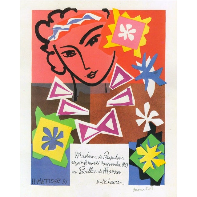 """This Henri Matisse vintage 1989 lithograph print """" Bal Arts Decoratifs Mourlot """" is a very special and unique piece to add..."""