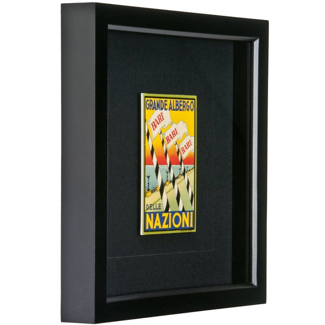 Framed Vintage Hotel Luggage Label - Nazioni - Image 2 of 2