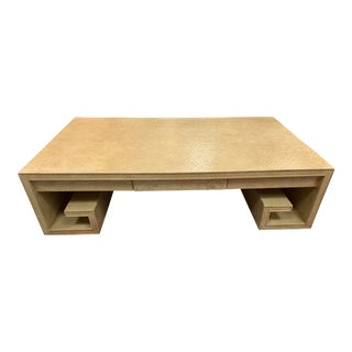 Thomas Pheasant Baker Greek Key Coffee Table For Sale