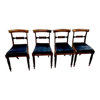 Regency Inlaid Rosewood Dining Chairs c. 1810-20, Set of Four
