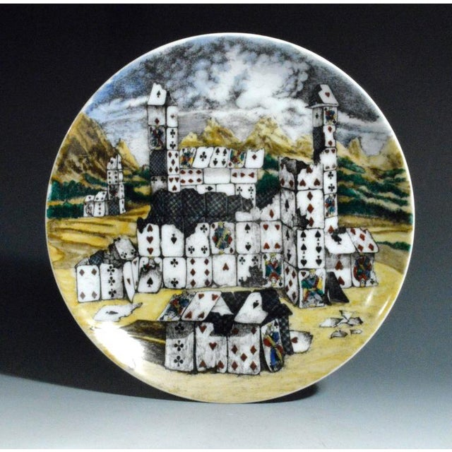 Piero Fornasetti Citta DI Carte City of Cards Plates in Complete Set of Twelve - Image 9 of 10