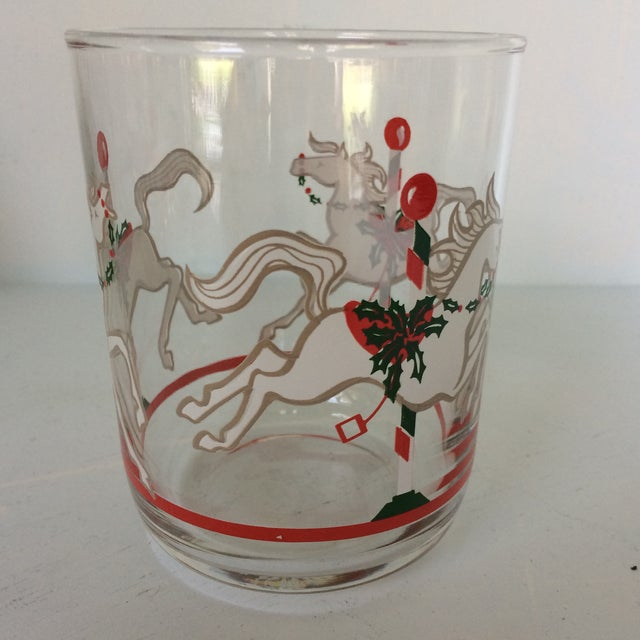 Americana Libbey Merry-Go-Round Glasses - Set of 6 For Sale - Image 3 of 13