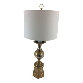 French Silverplate Lamp For Sale