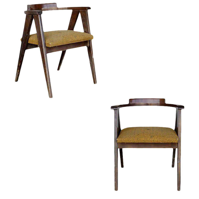 Superieur James Mont Style Asian Inspired Dining Chairs  A Pair For Sale