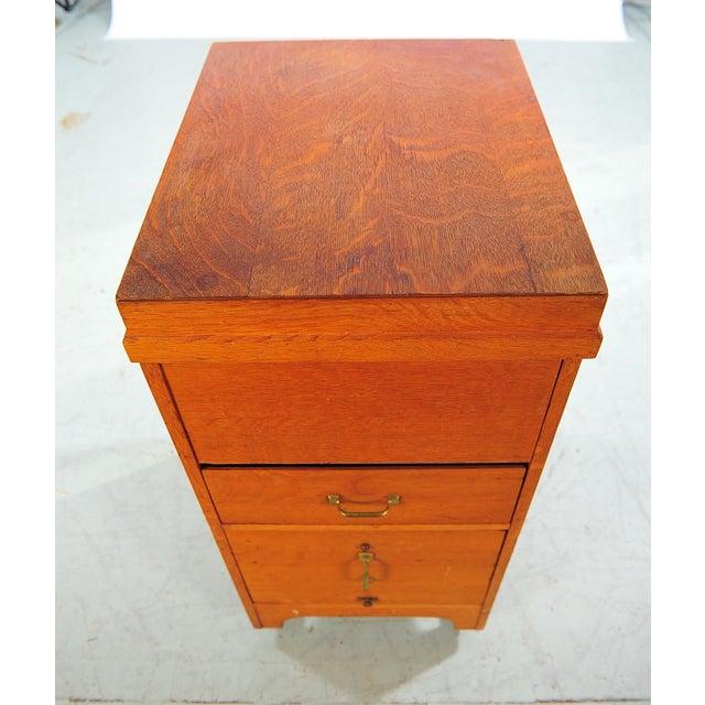 1930s Vintage Oak File Cabinet -2 Drawer - Image 4 of 9