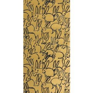 Hunt Slonem for Lee Jofa, Hutch Wallpaper Roll, Gold, 10 Yards For Sale