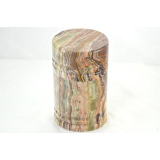 Carved Natural Agate Cylinder Box Preview