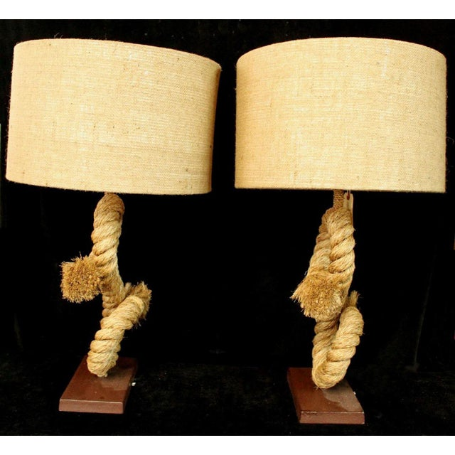 Americana 1990s Anthony Barata Nautical Modern Seafarer's Knot Table Lamp For Sale - Image 3 of 6