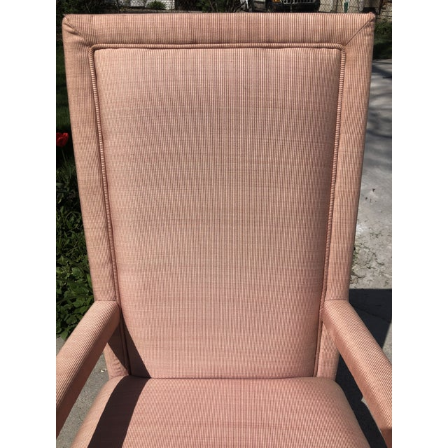 Art Deco 1970s Vintage Hollywood Regency Upholstered Parsons Chair For Sale - Image 3 of 13