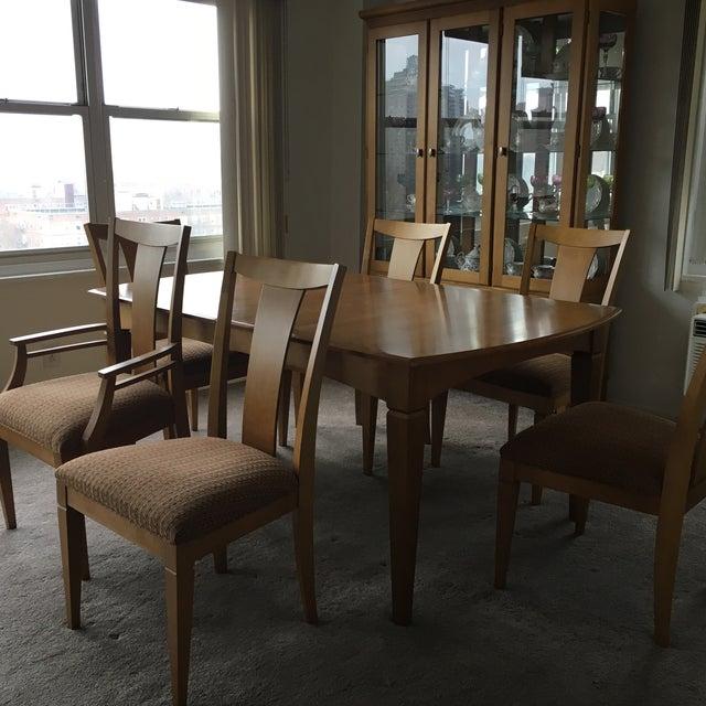 Ethan Allen Maple Dining Room Set | Chairish
