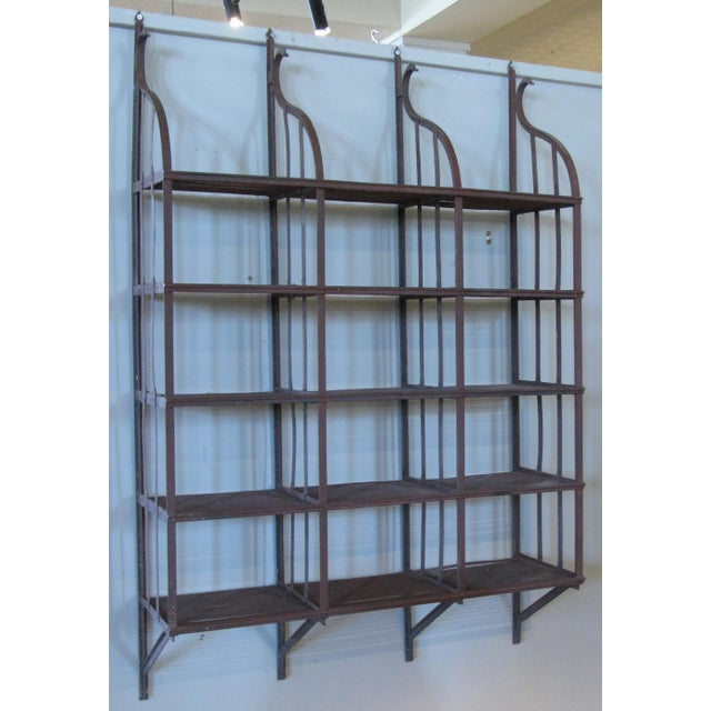 Metal Wrought Iron Wall-Hanging Shelving Rack For Sale - Image 7 of 7
