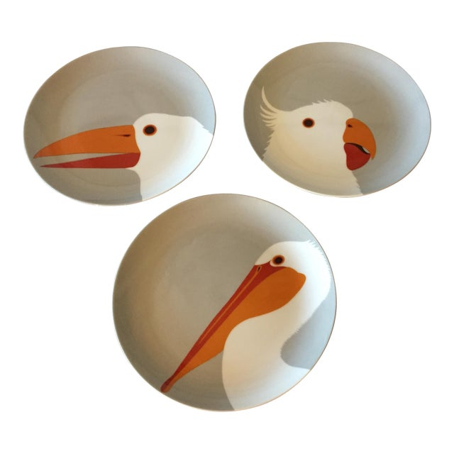 Fitz & Floyd for Neiman Marcus Bird Plates - Set of 3 For Sale