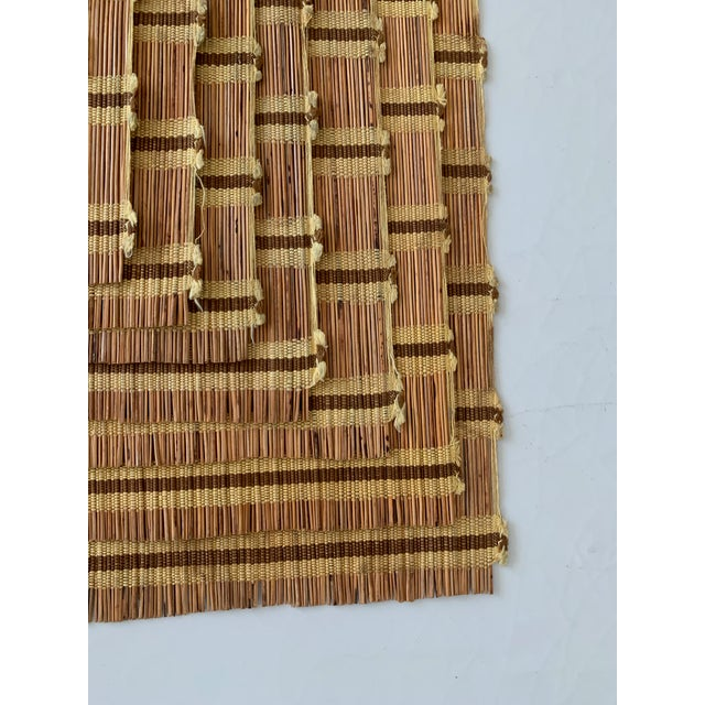 1950s Maria Kipp Style Mid-Century Wood Woven Placemats - Set of 9 For Sale - Image 5 of 8