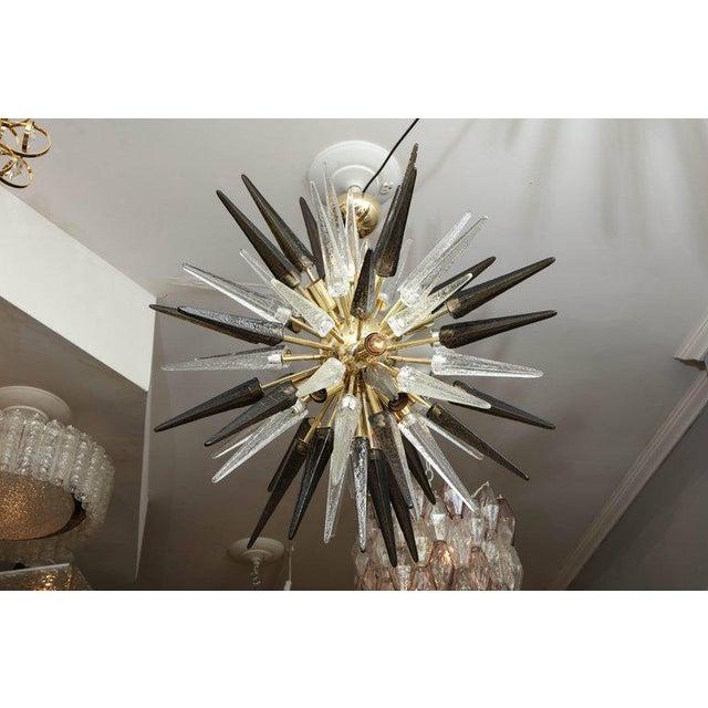 2010s Murano Smoke and Clear Glass Spike Sputnik For Sale - Image 5 of 10