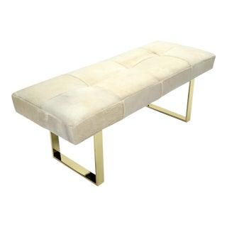 "Dena Brass White 60"" Bench For Sale"